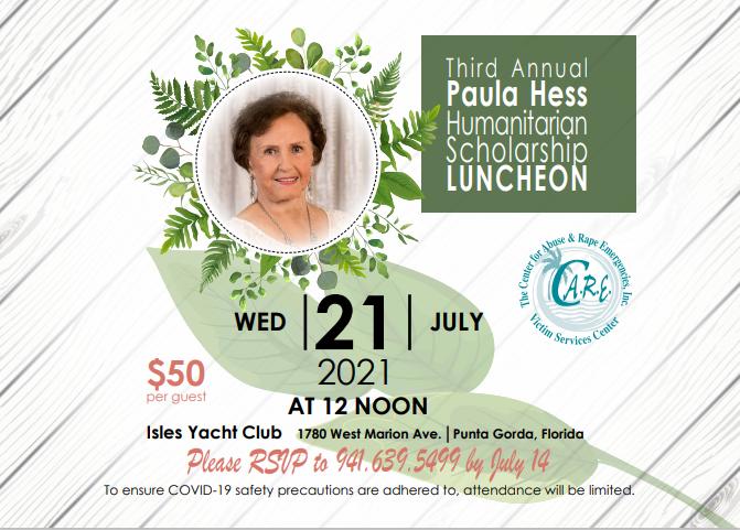 Third Annual Paula Hess Humanitarian Scholarship Luncheon